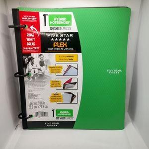 "Five Star Flex 1"" Hybrid Notebinder in Green New"